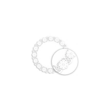 Centrino di Carta Traforato Bianco Ø340 mm (250 Pezzi)