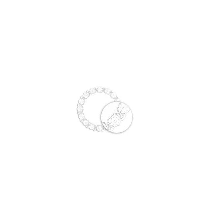 Centrino di Carta Traforato Bianco Ø230mm (2000 Pezzi)