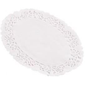 Centrino di Carta Traforato Ovale Bianco 22x32 cm (250 Pezzi)