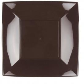 Piatto Plastica Piano Quadrato Argento 290mm (72 Pezzi)