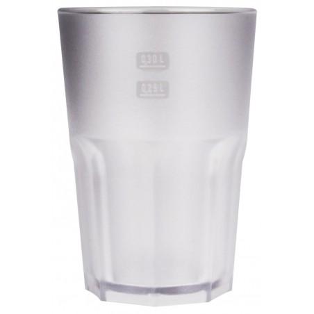 Bicchiere Riutilizzabili SAN Frost Trasparente 400ml (75 Pezzi)