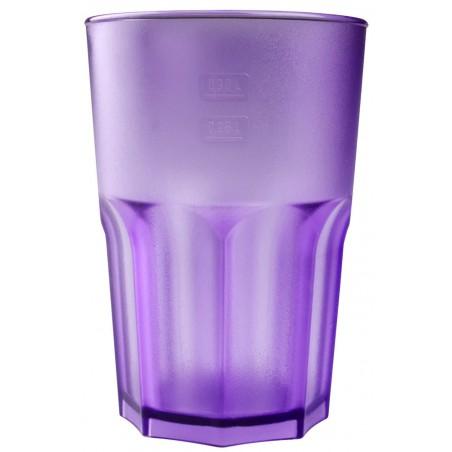 Bicchiere Riutilizzabili SAN Frost Lilla Trasparente 400ml (75 Pezzi)