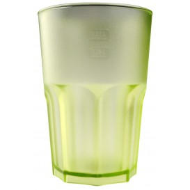 Bicchiere Riutilizzabili SAN Frost Verde Acido Trasp. 400ml (5 Pezzi)