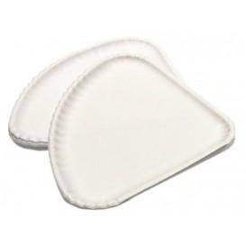 Piatto di Carta Bianca per Pizza 1/4 30x21cm (100 Pezzi)