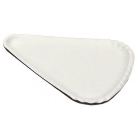 Piatto di Carta Bianca per Pizza 1/8 24x18cm (100 Pezzi)