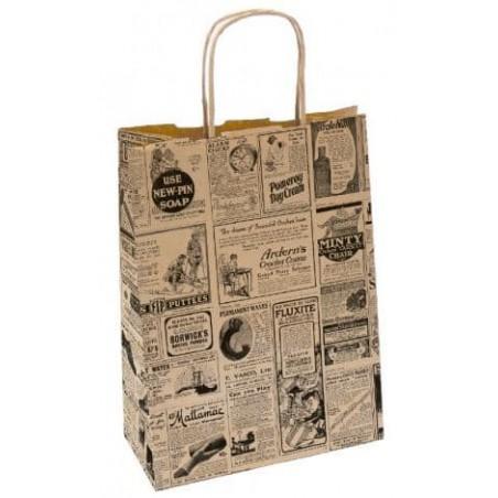 Buste Shopper in Carta Giornali 80g 20+10x29 cm (50 Pezzi)