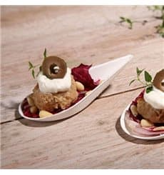 Piatto Goccia Canna da Zucchero Bianco 10,5x5cm (50 Pezzi)