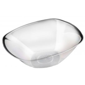 Ciotola di Plastica Trasparente Ø277mm Square PS 3000ml (3 Pezzi)