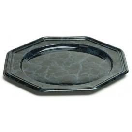 Suttopiatto di Plastica Catering Ottagonali Marmo 30 cm (5 Pezzi)