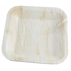 Piatto Quadrato in Foglia di Palma 20x20 cm (25 Pezzi)