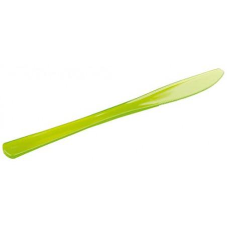 Coltello di Plastica Premium Verde 200mm (10 Pezzi)