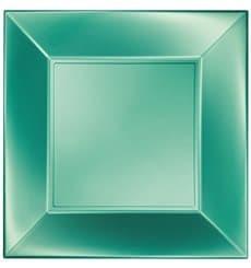 Piatto Plastica Piano Verde Nice Pearl PP 230mm (25 Pezzi)