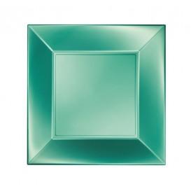 Piatto Plastica Piano Verde Nice Pearl PP 230mm (300 Pezzi)