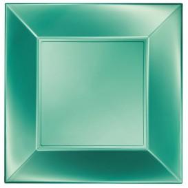 Piatto Plastica Piano Verde Nice Pearl PP 290mm (12 Pezzi)