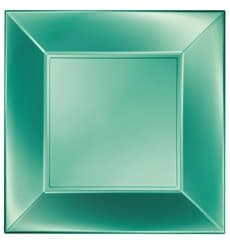 Piatto Plastica Piano Verde Nice Pearl PP 290mm (144 Pezzi)
