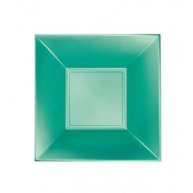 Piatto Plastica Fondo Verde Pearl Nice Pearl PP 180mm (25 Pezzi)