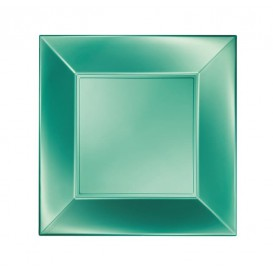 Piatto Plastica Piano Verde Nice Pearl PP 180mm (25 Pezzi)