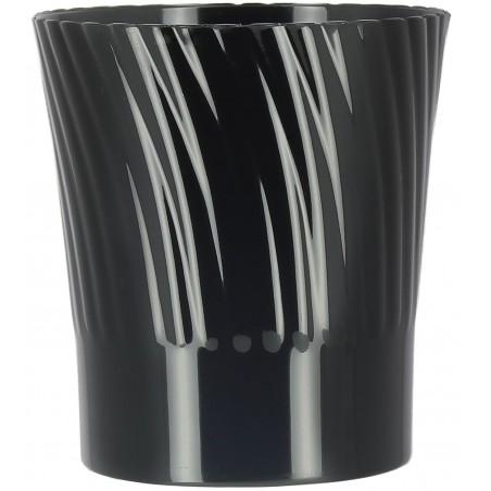 Mini Bicchiere Plastica Degustazione Nero 165ml (12 Pezzi)