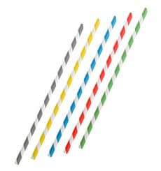 Cannuccia Flessible di Carta Assortimento Ø6mm 23cm (250 Pezzi)