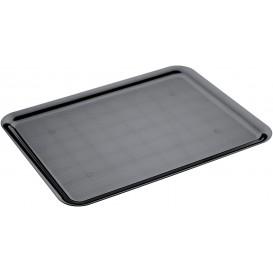 Vassoio Plastica Tray Nero 37x50cm (4 Pezzi)