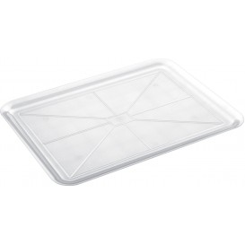 Vassoio Plastica Tray Trasparente 37x50cm (4 Pezzi)