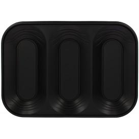 """Vassoio di Plastica PP """"X-Table"""" 3C Nero 330x230mm (2 Pezzi)"""