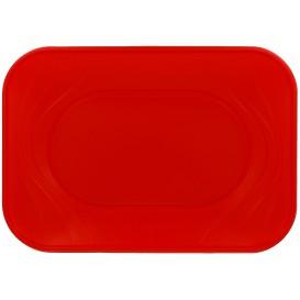 """Vassoio di Plastica """"X-Table"""" Rosso PP 330x230mm (60 Pezzi)"""