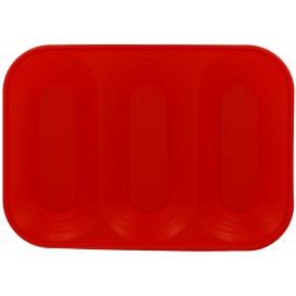 """Vassoio di Plastica """"X-Table"""" 3C Rosso PP 330x230mm (30 Pezzi)"""