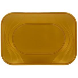 """Vassoio di Plastica PP """"X-Table"""" Oro 330x230mm (2 Pezzi)"""