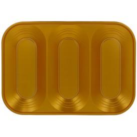 "Vassoio di Plastica PP ""X-Table"" 3C Oro 330x230mm (2 Pezzi)"