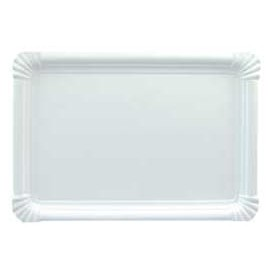 Vassoiodi Cartone Rettangolare Bianco 22x28 cm (300 Pezzi)