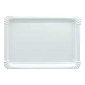 Vassoiodi Cartone Rettangolare Bianco 25x34 cm (100 Pezzi)