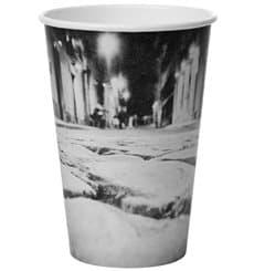 """Bicchiere di Carta 16 Oz/500ml """"Parisian"""" Ø8,9cm (1000 Pezzi)"""