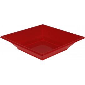 Piatto Plastica Fondo Quadrato Rosso 170mm (25 Pezzi)