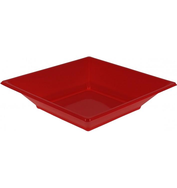Piatto Plastica Fondo Quadrato Rosso 170mm (750 Pezzi)
