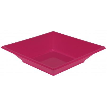Piatto Plastica Fondo Quadrato Fucsia 170mm (750 Pezzi)