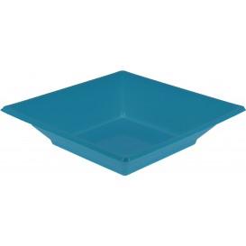Piatto Plastica Fondo Quadrato Turchese 170mm (5 Pezzi)