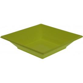 Piatto Plastica Fondo Quadrato Pistacchio 170mm (5 Pezzi)