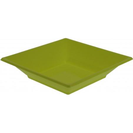 Piatto Plastica Fondo Quadrato Pistacchio 170mm (25 Pezzi)