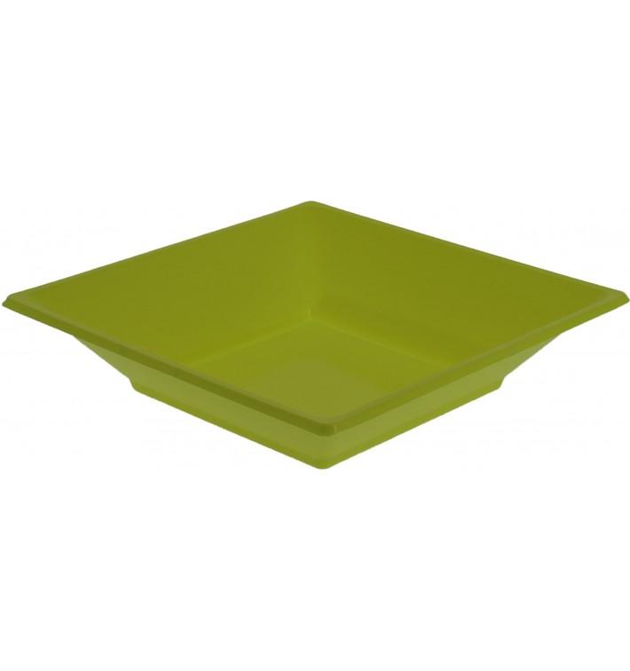 Piatto Plastica Fondo Quadrato Pistacchio 170mm (750 Pezzi)