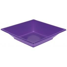 Piatto Plastica Fondo Quadrato Lilla 170mm (5 Pezzi)