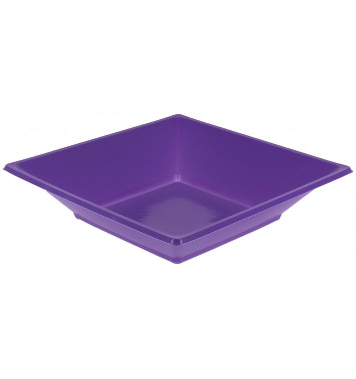 Piatto Plastica Fondo Quadrato Lilla 170mm (25 Pezzi)