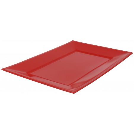 Vassoio Plastica Rosso 330x225mm (3 Pezzi)