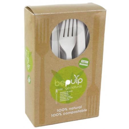 Forchetta Biodegradabile PLA Bianco 160mm (500 Pezzi)