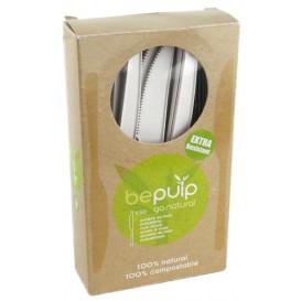 Coltello Biodegradabile PLA Bianco 160mm (50 Pezzi)