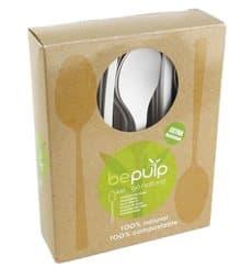 Cucchiaio Bio CPLA Bianco 155mm imballaggio (50 Pezzi)