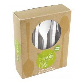 Cucchiaio Biodegradabile PLA Bianco 155mm (500 Pezzi)