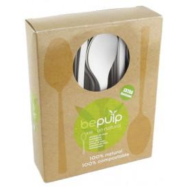 Cucchiaio Caffè Biodegradabile PLA Bianco 120mm (50 Pezzi)