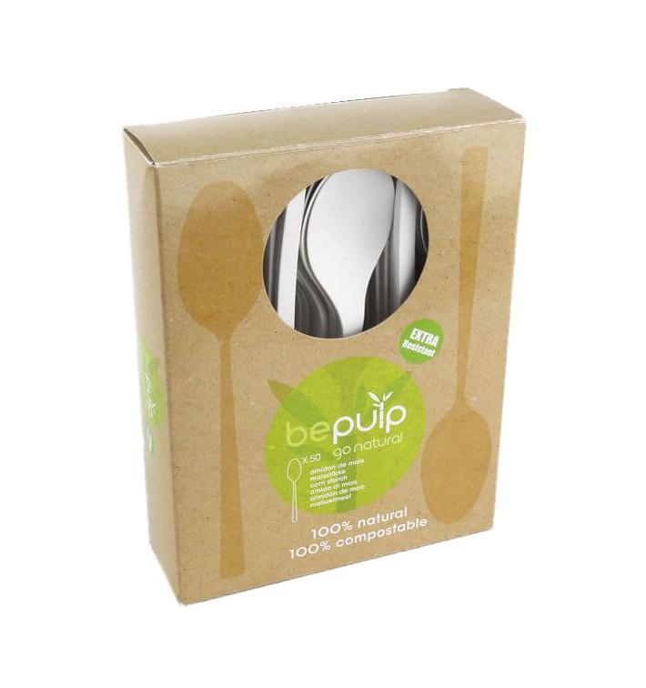 Cucchiaio Bio CPLA Bianco 120mm imballaggio (50 Pezzi)