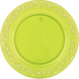 """Piatto Plastica Tondo Rigida """"Lace"""" Verde 23cm (4 Pezzi)"""